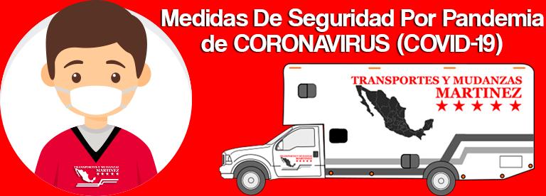 Cotizar Mudanza Medidas De Seguridad Por Pandemia de CORONAVIRUS (COVID-19)